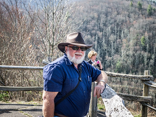 Tom at Cataloochee Valley Overlook