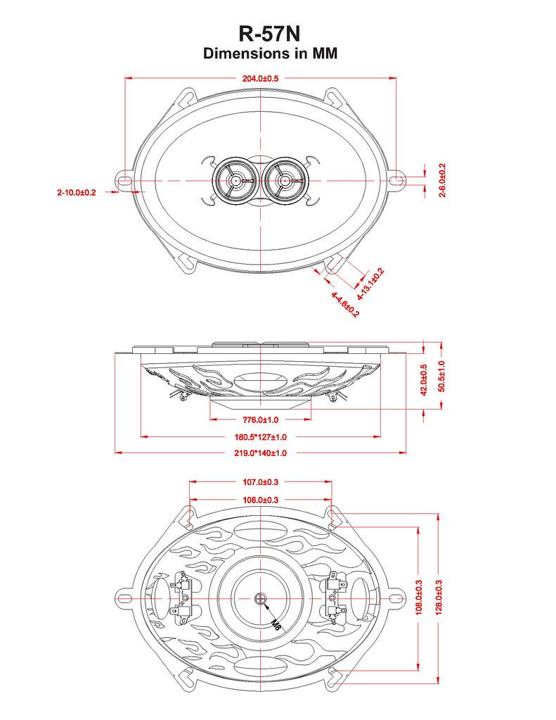 RETROMOD™ NEO-SERIES 5'' x 7'' 100-WATTS DUAL VOICE COIL