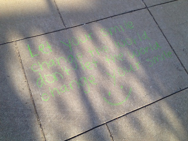 Random sidewalk message