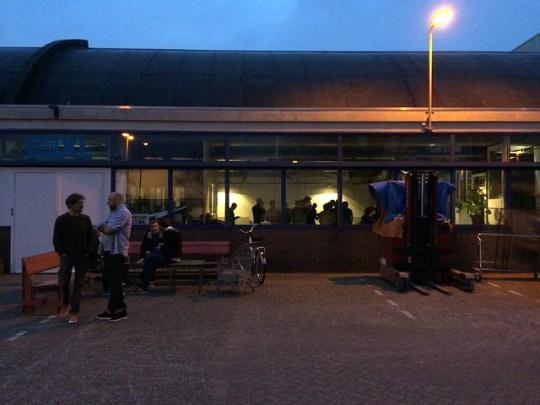 Leaving after first Bierclub at Vechtclub XL