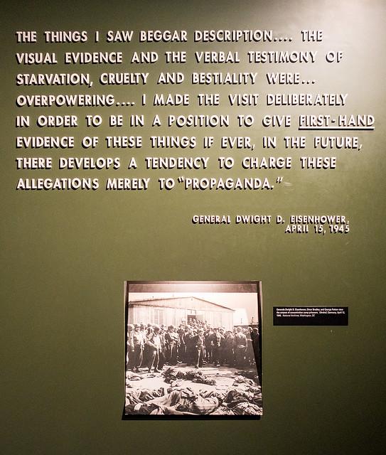 Eisenhower quote, Permanent Exhibition