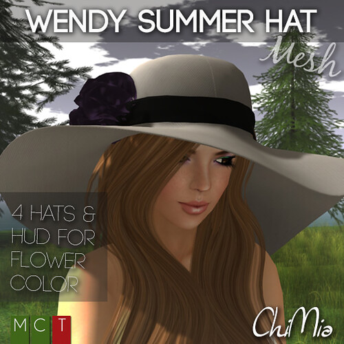 ChiMia __ Wendy summer hat  @ The Deck