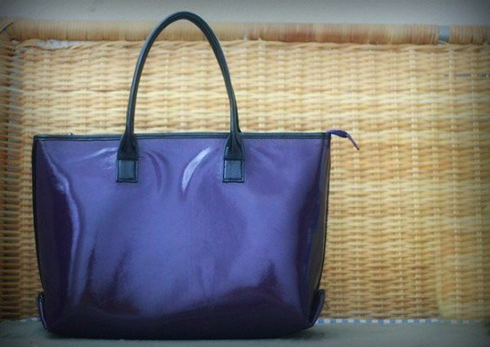 egg bag lila purple