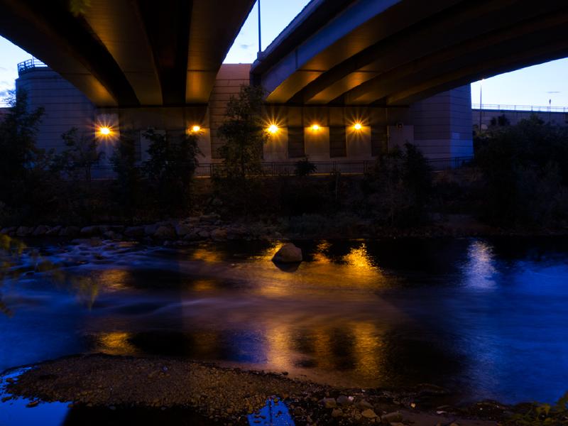 Riverfront underpass