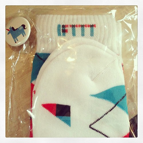Yay, socks from @ifttt ! Thanks guys!