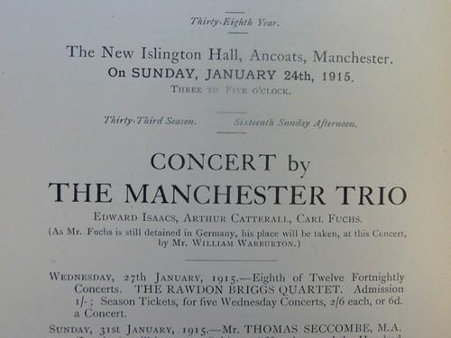 Manchester Trio Concert - Excerpt