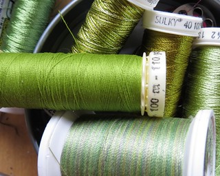 spring green threads