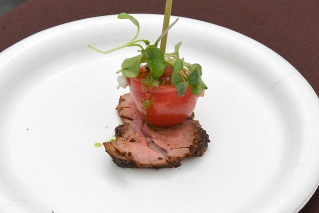 STK wedge skewer with beef tenderloin