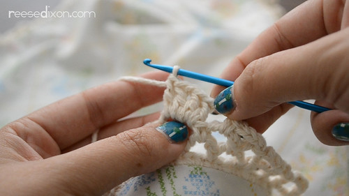 Crocheted Sham Tutorial Step 8