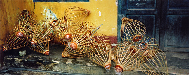 lantern 'skeletons' in Hoi An, Vietnam