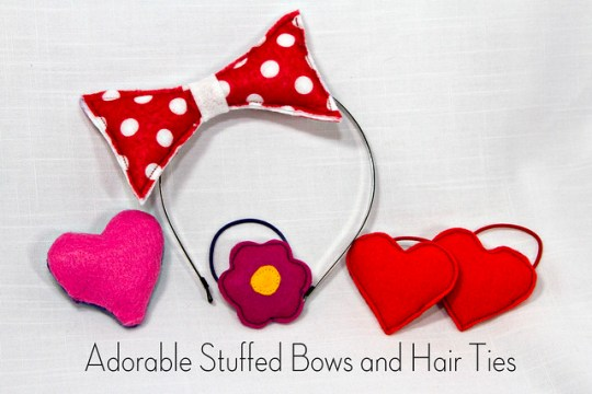 Adorable Stuffed Bows & Hair Ties