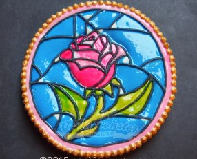 StainGlass Rose Cookie