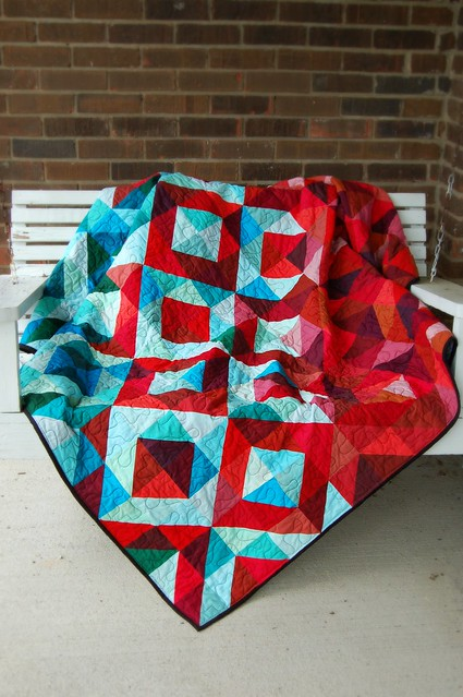 Lava Meets Sea Quilt Porch Swing