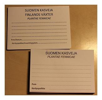 Suomen kasveja  -  Plantae Fennicae -etiketit.