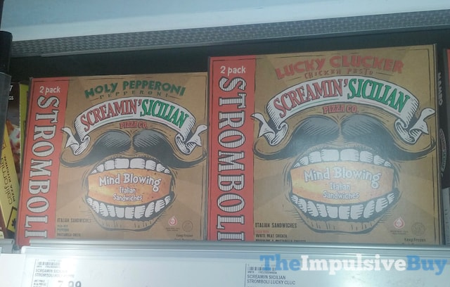 Screamin' Sicilian Holy Pepperoni and Lucky Clucker Stromboli