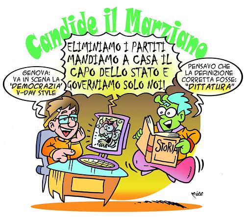 Candide il Marziano e il V-Day by Moise-Creativo Galattico