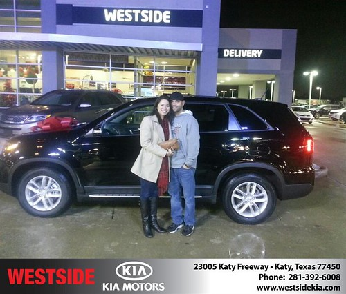 Thank you to Karen King on your new 2014 #Kia #Sorento from Rubel Chowdhury and everyone at Westside Kia! #NewCarSmell by Westside KIA