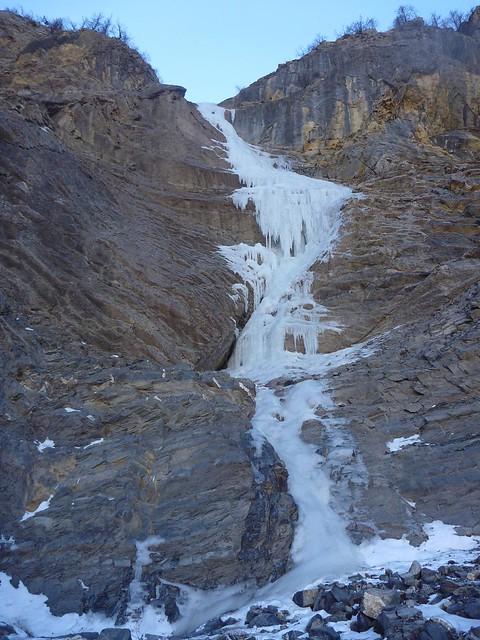 cascade de glace, petite morière