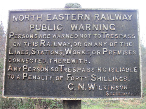 North Eastern Railway Sign - Beck Hole