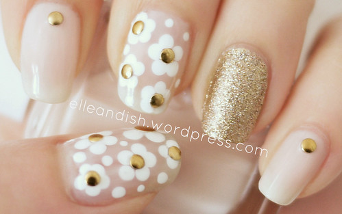 Elle ish personal finance nail art decor travel marc jacobs daisy inspired nail tutorial prinsesfo Images