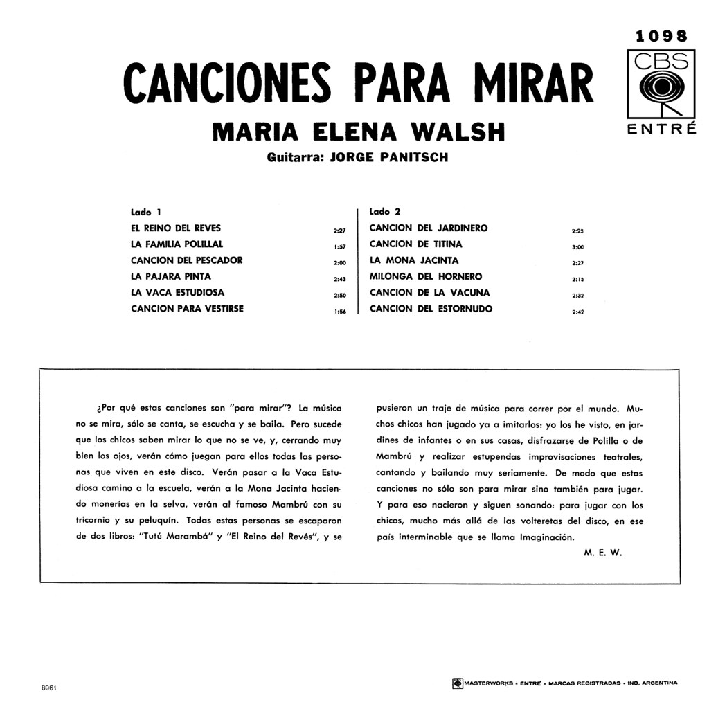 Maria Elena Walsh - Canciones Para Mirar