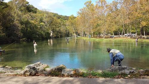 Fishing at Bennett Spring