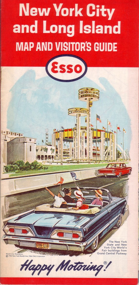Esso New York City and Long Island Map and Visitor's Guide - 1964
