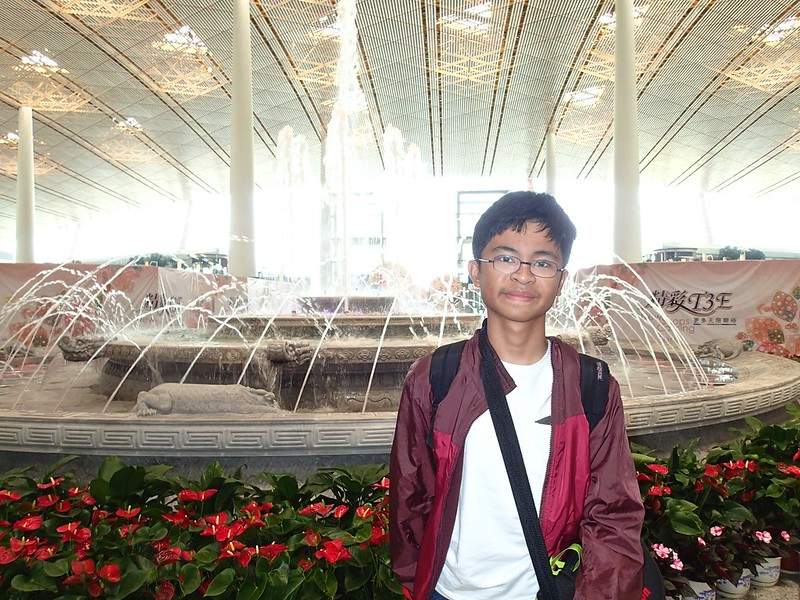 Me upon arrival at Beijing International Airport
