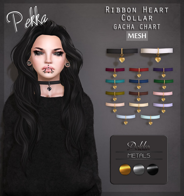 Pekka Ribbon Heart Collar OH MY GACHA