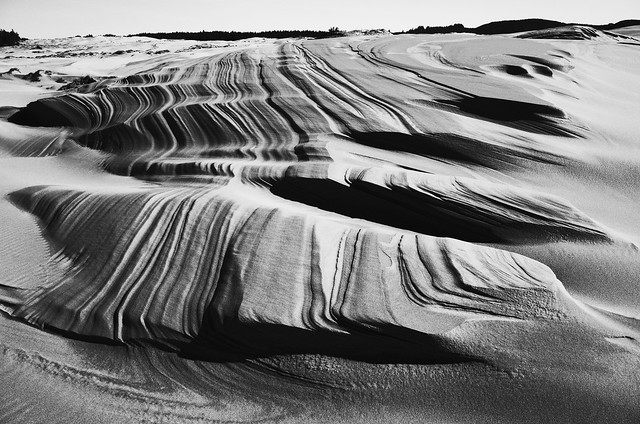 dunes ridge after heavy winds