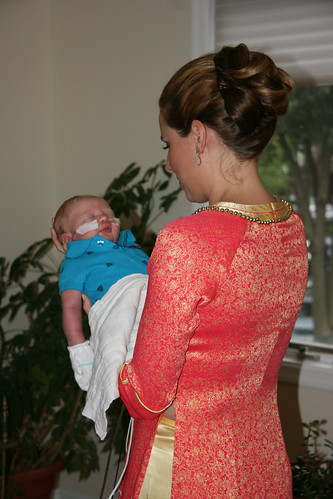 Holding my nephew before the ceremony