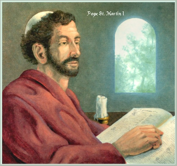 Pope Saint Martin I.