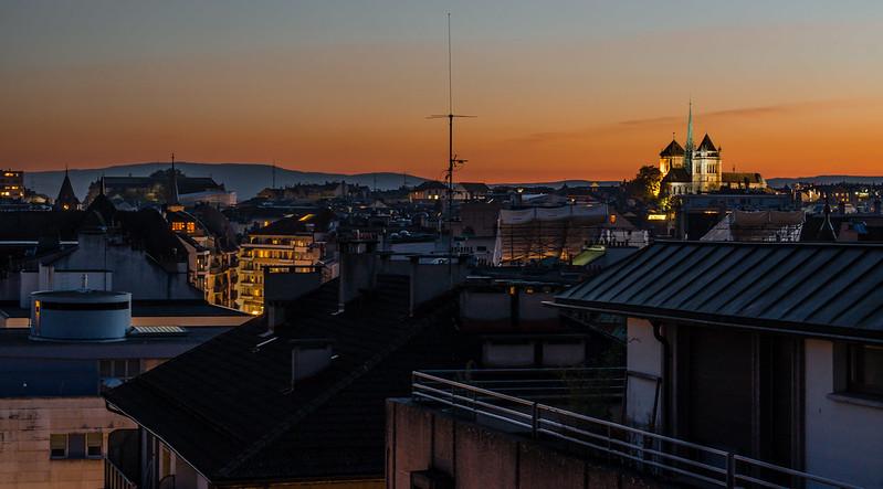 Rooftop Sunset, Geneva, Switzerland