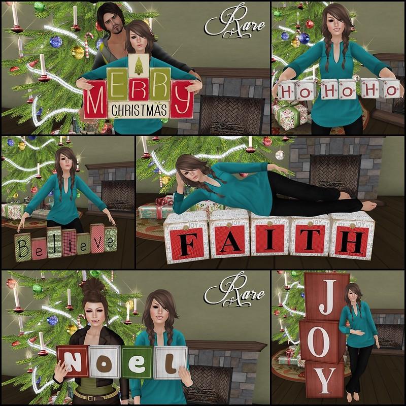 Flash Friendly Poses Christmas Blocks