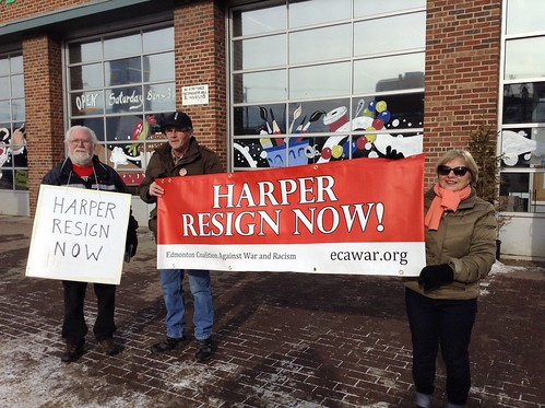 ECAWAR Stop Harper Picket - Feb. 15, 2014