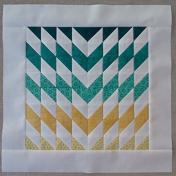 "July 3rd sewing: ""Shattered Chevron"""