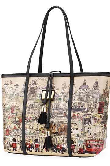 Cartoon Handpainted Tassels Bag