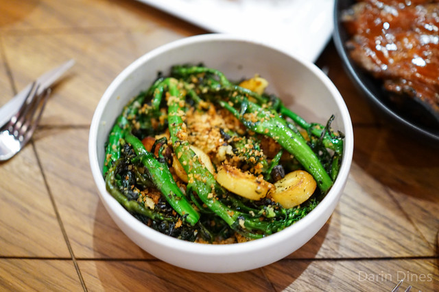 Broccolini Smoked Fingerling Potatoes, Lemon-Rosemary Bread Crumbs, and Chili Oil