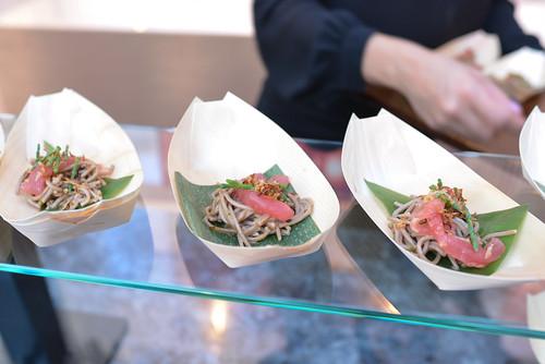 Shibuya tuna soba pasta, spicy goma ponzu