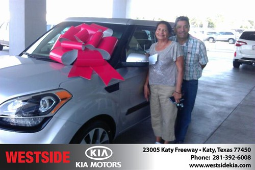 Thank you to Rene Rodriguez on the 2013 Kia Soul from Orlando Baez and everyone at Westside Kia! by Westside KIA