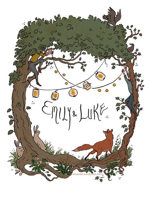 Emily and Luke wedding invitation