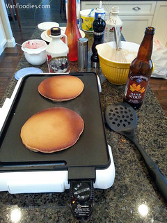 Making pancakes with Cannery Maple Stout
