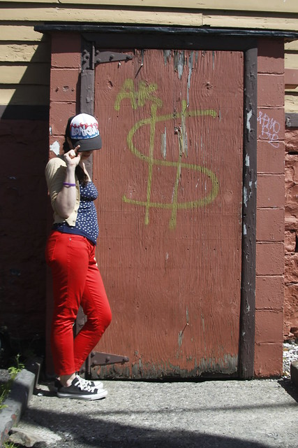 Red Pants/Dollar Sign Portrait - Sweet and Savoring