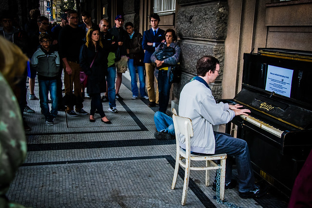 Public Amateur Piano Performance. Prague