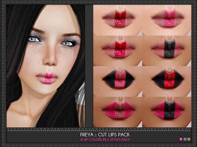 Freya Cut Lips Pack