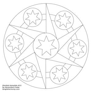 Mandala template number 11