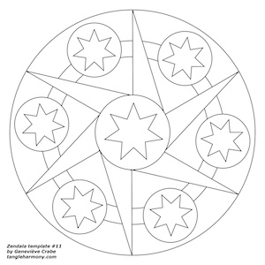 Mandala template number 11