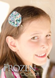 frozen snowflake hair clips ashlee