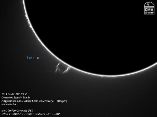 H-alpha prominences - 2014.04.07. - Bognár Tamás