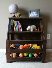 Turtles and Tails: Bookshelf Toybox Combo (DIY)